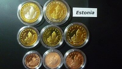 Estonia serie 8 monete (1cent - 2euro)  in blister