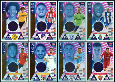 Match Attax 18/19 Champions League Eight (8) Different Man Of The Match Cards