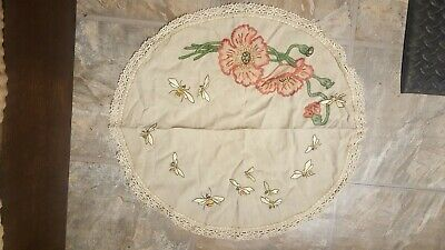 CLASSIC ANTIQUE ARTS CRAFTS MISSION STYLE STICKLEY ERA EMBROIDERED Table Cloth