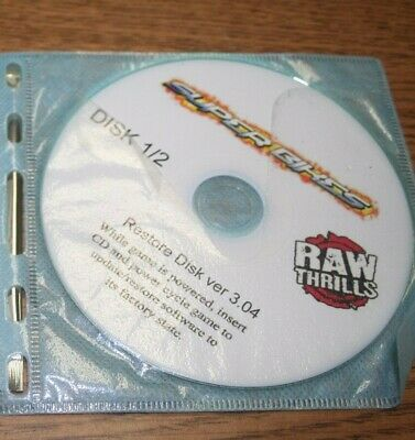 Fast & Furious Super Bikes Raw Thrills Recovery Disk Set V3.04 Used