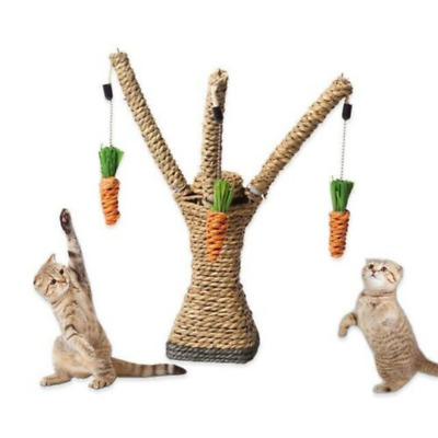 Luxury Cat Kitten Scratching Post Toy Tree Sisal Rope Activity Climbing Cat Toy
