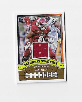 00ea8c26340 JORDAN HOWARD 2018 PANINI CLASSICS SATURDAY SWATCHES ROOKIE JERSEY Bears
