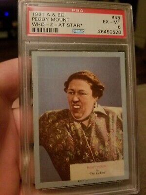 1961 A&BC Who-Z-At Star? Peggy Mount #48 PSA 6 EXMT (PWCC)