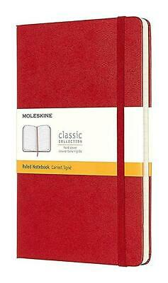MOLESKINE CLASSIC (RED) LARGE RULED HARD COVER NOTEBOOK *New in RETAIL PACKAGE!!