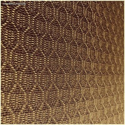 """Antique Radio Speaker/Grille Cloth, Zenith Gold, Special 12A58 size, 25""""h x 36""""w"""