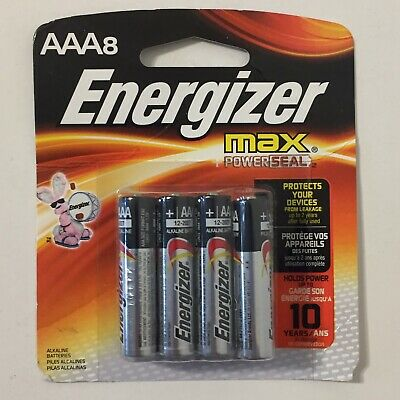 Energizer Max Powerseal AAA Alkaline Batteries 10 Pack Expires 12/2027