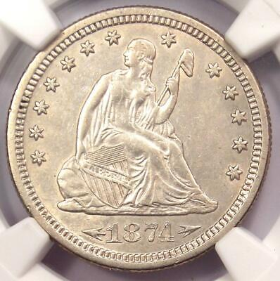 1874-S Arrows Seated Liberty Quarter 25C - NGC AU Details - Rare Type Coin!