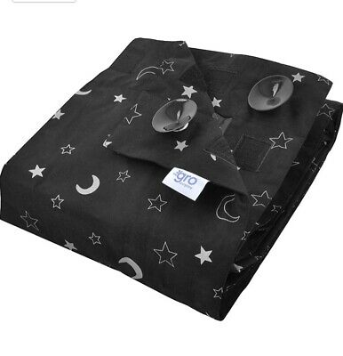 Stars and Moons Gro Anywhere Portable Blackout Blind with Suction Cups New