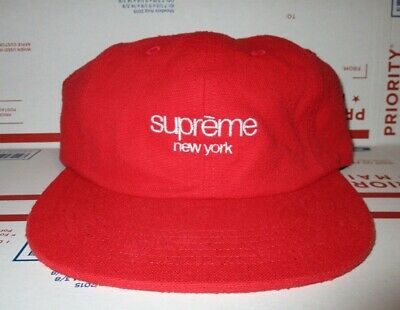 c2681e2a Supreme Napped CANVAS 6 panel Hat Classic BOX Logo Cap Strap Back  Skateboard NYC