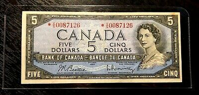 Canada 1954 $5 Replacement *V/S Low Issue!