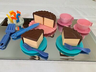 Fabulous 1963 Now Fisher Price Fun With Food Birthday Cake Frosting Number Personalised Birthday Cards Beptaeletsinfo