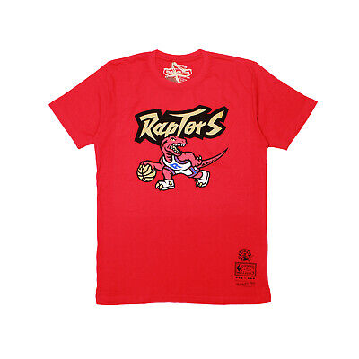 7265e829456 Mens Toronto Raptors NBA Finals Mitchell Ness Gold Dribble Graphic Tee Red