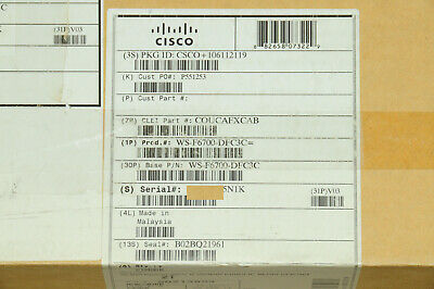 *Brand New* Cisco WS-F6700-DFC3C Optional Daughter Module Card 1YrWty TaxInv