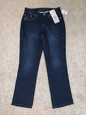NWT Women's Jag Dark Wash Mid Rise Straight Leg Jeans Pants Size 2
