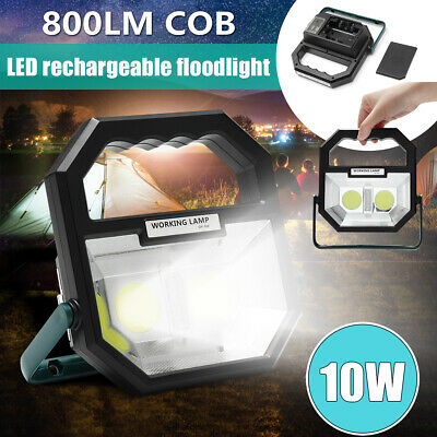 10W 800LM COB LED USB Rechargeable Flood Work Light Spot Camping Outdoor Lamp