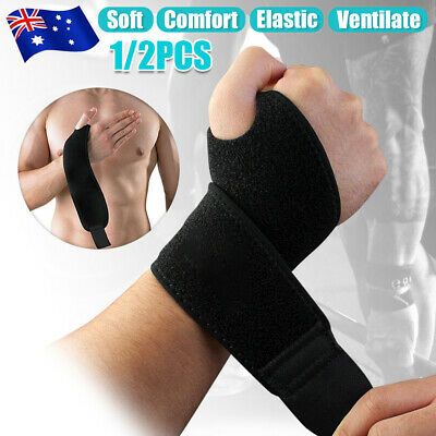 Hand Wrist Support Brace Pain Relief Strap Wrap Carpal Tunnel Sprain CTS RSI Gym