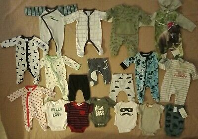 Baby Boys Clothes Size 0000 Newborn Bulk Pack With 14 Items Inc Bebe And New