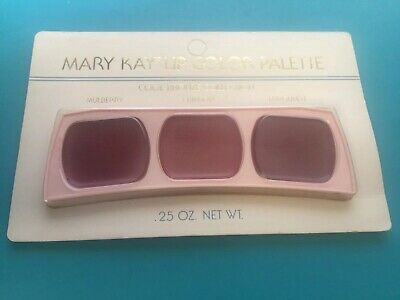 Vintage Retired NEW Mary Kay Lip Color Pallet - MULBERRY, CRIMSON, & BURGUNDY