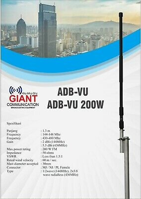 Antenna for HAM RADIO 144 Mhz , 140-150 Mhz , Max 500 Watt Base Amateur Band