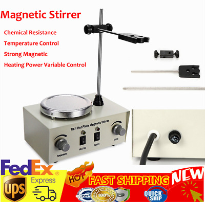 79-1 Hotplate Magnetic Stirrer Mixer Lab With Heating Plate 1000ml Speed Control