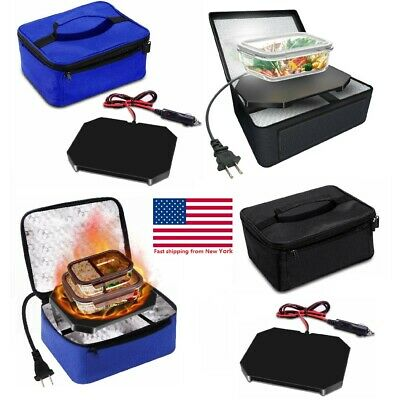 Portable Insulated Food Warmers Electric Lunch Bag Cabinet Buffet Set for Car