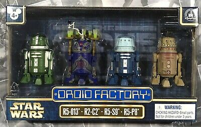 Star Wars Droid Factory The Clone Wars Set of 4- R5-013, R2-C2, R5-S9, R5-P8 NIB
