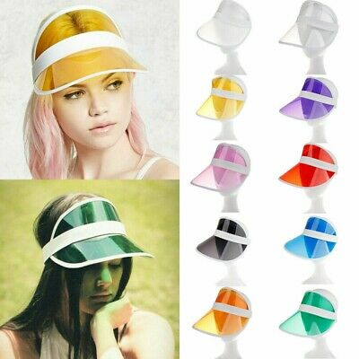 Summer PVC Hat Sun Visor Party Casual Hat Clear Plastic Adult Sunscreen Cap New