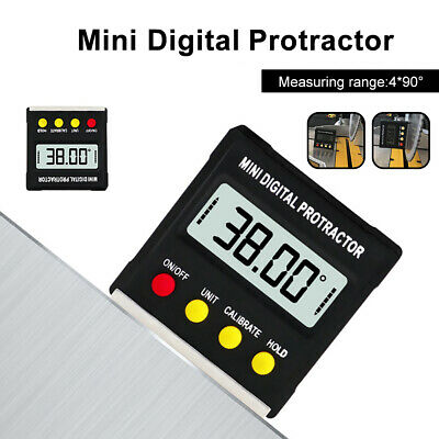 Inclinometer Angle Gauge Meter Digital Protractor Electronic Level Box Cleve