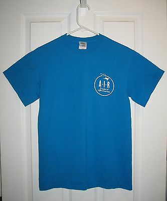 Mens Teen Boys Clothes Turquoise Air Aba Services Graphic Tee T-Shirt New Small