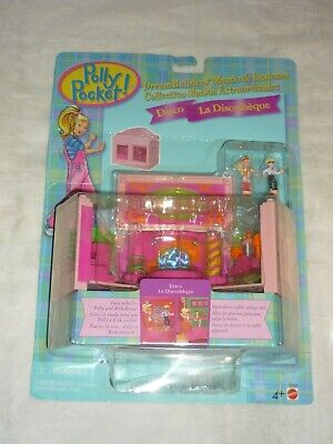 Vntg 1999 Mattel Polly Pocket Dream Builders Disco Room Playset New Moc
