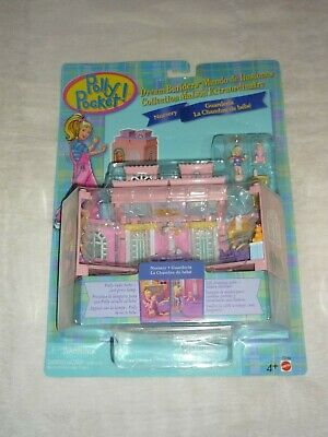 Vntg 1999 Mattel Polly Pocket Dream Builders Nursury Room Playset New Moc