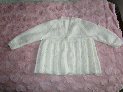 babies hand knitted matinee jacket