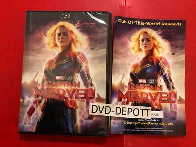 Captain Marvel DVD AUTHENTIC W/Disney Rewards Points **READ LISTING** Fast Shipp