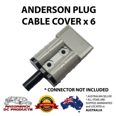 Weatherproof Anderson Plug Cable Seal Insert Black x 6 - High Quality 50A/50 AMP
