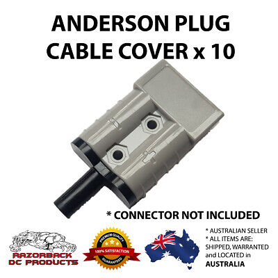 Weatherproof Anderson Plug Cable Seal Insert Black x10 -High Quality 50A/50 AMP