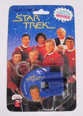 STAR TREK KEY CHAIN CLICK VIEWER 24 SHOTS FROM THE MOVIES (up to 1993)