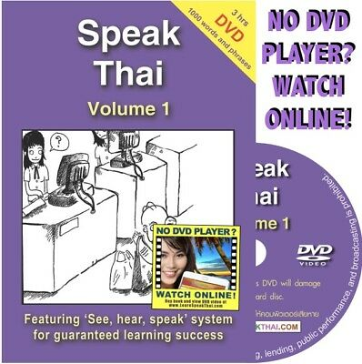 Learn to Speak Thai Language Course Vol 1: Book, DVD, Online Video (50% OFF)
