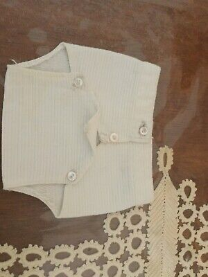 Antique Original french little button up nappy pants for your dollca 1900s
