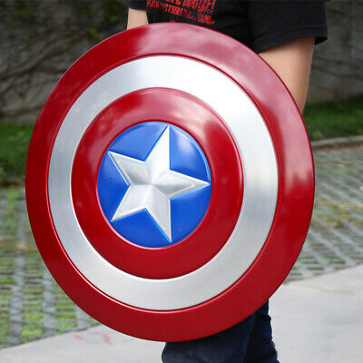 Metal Shield for Captain America The Avengers 4 Prop Cosplay Replica with Rack