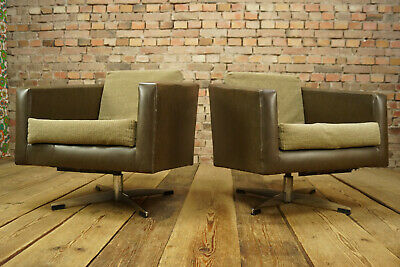 60s Vintage Swivel Chair Swivel Easy Chair Lounge Seat Danish mid Century 1/2