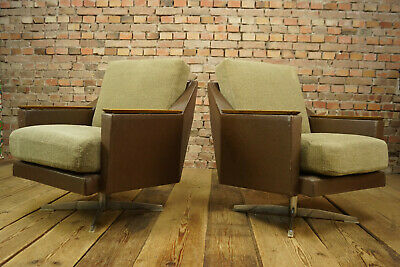 60s Vintage Swivel Chair Swivel Easy Chair Lounge Seat Danish mid Century 1/3