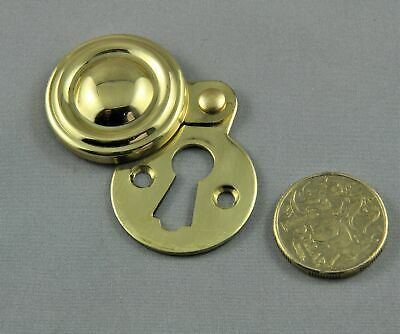 Key Hole Escutcheon-Solid Polished Cast Brass-Suits Jacksons Mortice Locks-Cover