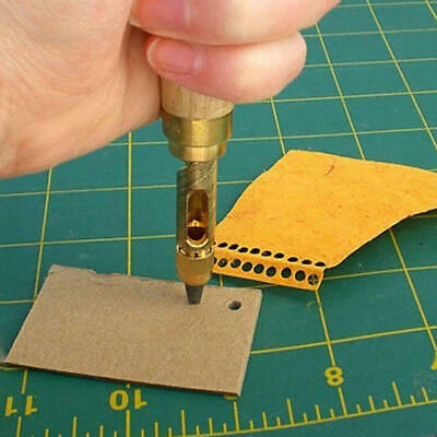 6 in 1 Automatic Hole Punch Cutter Book Drill Sewing Leather Rotary Craft Tools