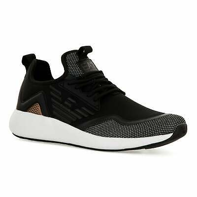 EA7 Mens 3D Mesh Trainers (Black)