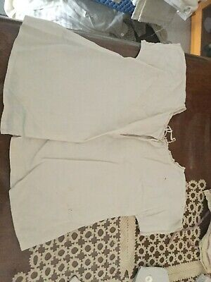 Antique ca 1900s little light cotton short sleeved under shirt for your doll