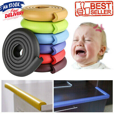2M Baby Safety Table Edge Strip Desk Corner Cushion Protector Guard Soft Bumper
