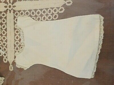 Antique crisp cotton under corset gown for leather or cloth body dolls ca 1900s