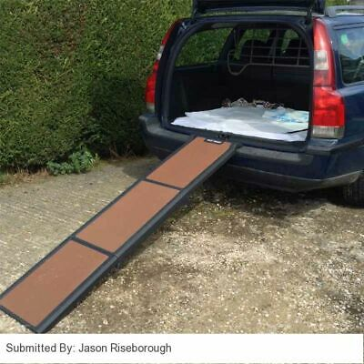 Dog Ramp For Car Travel Light Pet Ramp 90kg Weight Capacity Folds in Three