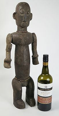 African tribal art Luba standing ancestor figure with articulated arms