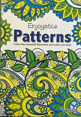 2 X Adult Colouring Book Books Therapy A4 Size + 20 Premium Colouring Pencils